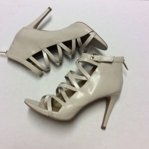 NINE WEST Sandals Booties  Cream Size 10